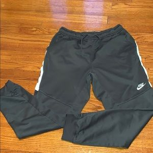 Nike draw-string pants.